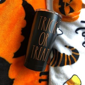 Rae Dunn TRICK OR TREAT orange tumbler